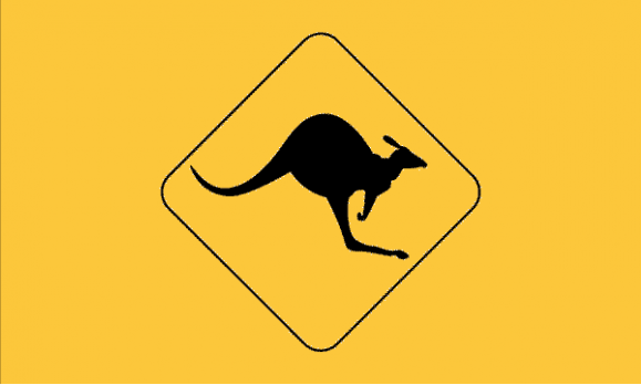 Flag image for Kangaroo Road Sign