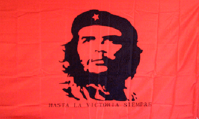Design of the Che Guevara on Red Background 1500x900mm Flag