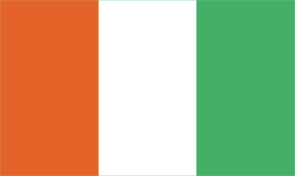 Design of the Cote Divoire Ivory Coast 900x600mm Flag
