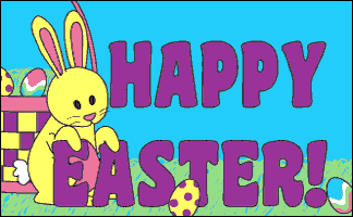 Flag image for Happy Easter Yellow Bunny
