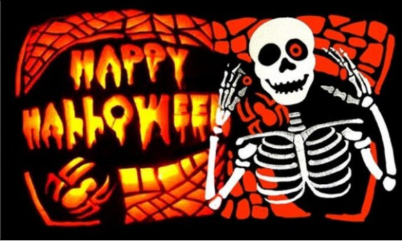Flag image for Happy Halloween Bones