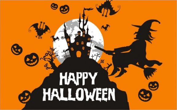 Flag image for Happy Halloween Witch