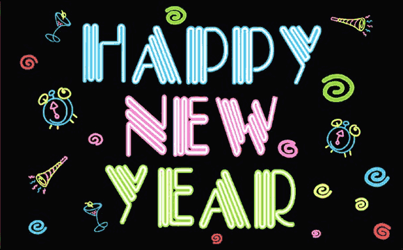 Flag image for Happy New Year Neon