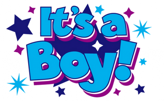 Design of the Its a Boy with Stars 1500x900mm Flag