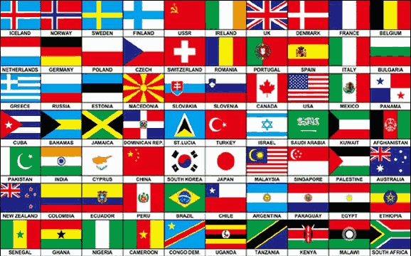 Design of the Seventy Nations on one flag 1500x900mm Flag
