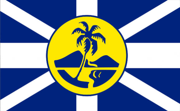 Design of the Lord Howe Island Unofficial 150x100mm Desk Flag