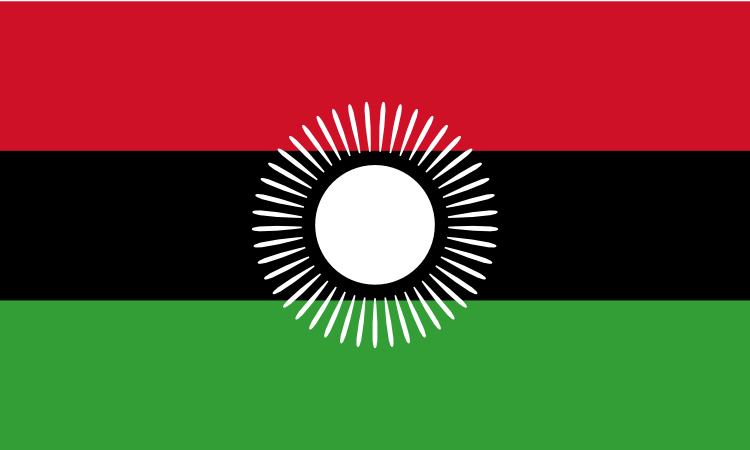 Design of the Malawi 2010 to 2012 1500x900mm Flag