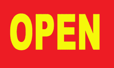 Flag image for Open Yellow On Red Background