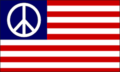 Flag image for Peace Symbol On Usa Stripes