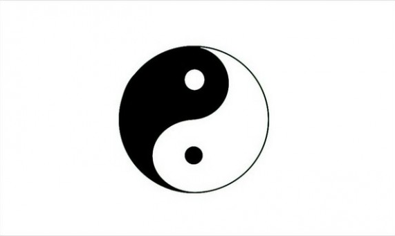 Flag image for Yin And Yang On White