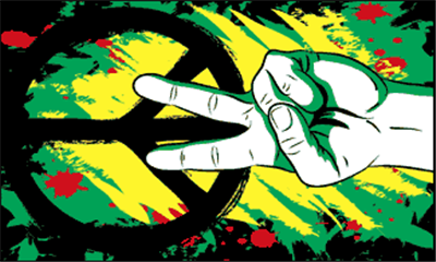 Design of the Peace Graffiti 1500x900mm Flag