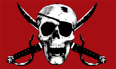 Design of the Pirate Crimson 1800x1200mm Flag