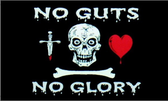 Design of the No Guts No Glory 1500x900mm Flag