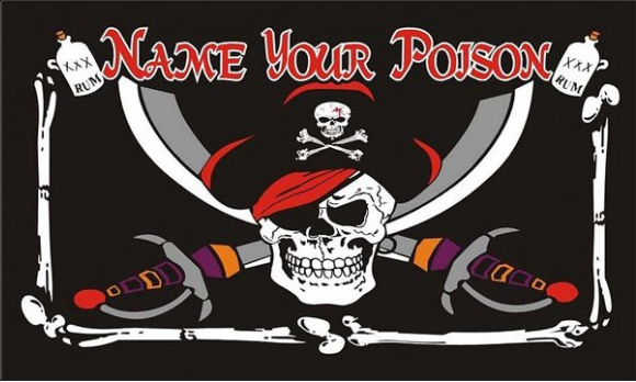 Design of the Name Your Poison 1500x900mm Flag