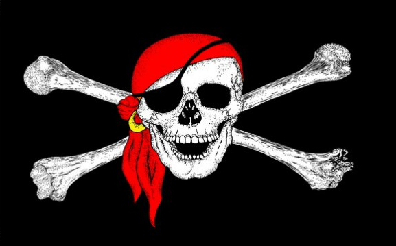 Design of the Pirate Red Bandanna 1800x1200mm Flag