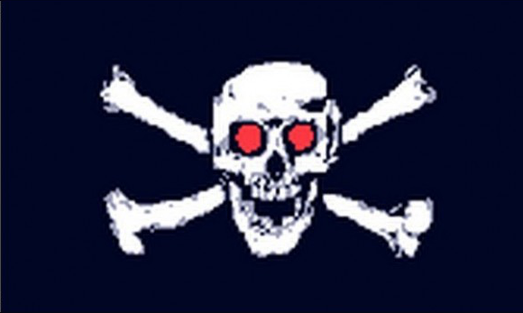 Design of the Pirate With Red Eyes 1500x900mm Flag