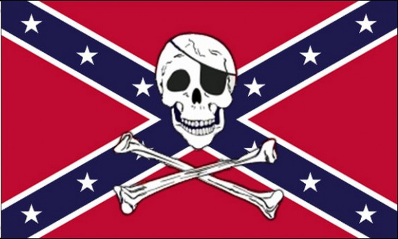 Design of the Confederate Pirate 1500x900mm Flag