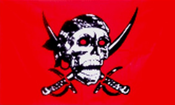Design of the Pirate Red Skull 900x600mm Flag