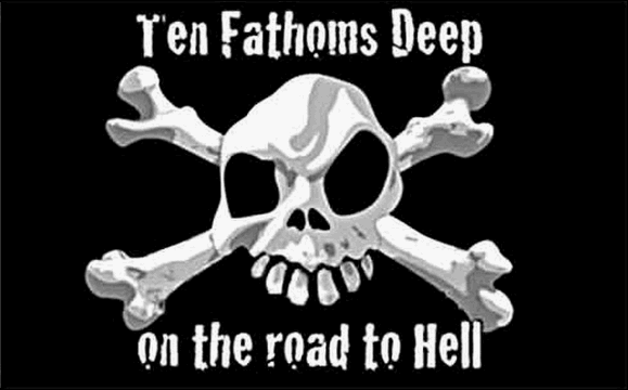 Flag image for Ten Fathoms Deep on the road to Hell
