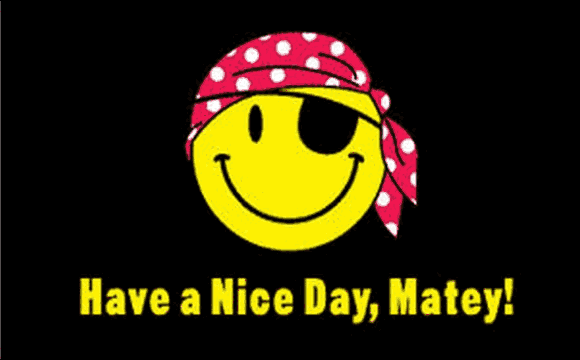 Design of the Have A Nice Day Matey 1500x900mm Flag
