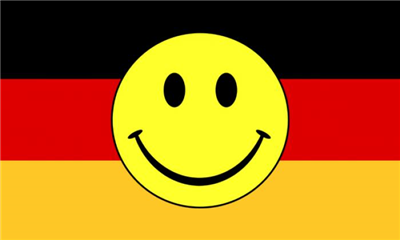 Design of the Smile Face Yellow On Germany 1500x900mm Flag