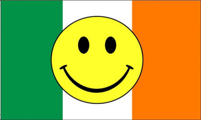 Flag image for Smile Face Yellow On Ireland