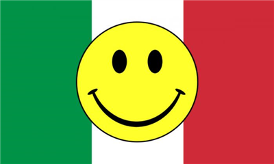 Flag image for Smile Face Yellow On Italy