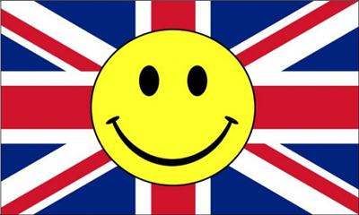 Flag image for Smile Face Yellow On United Kingdom