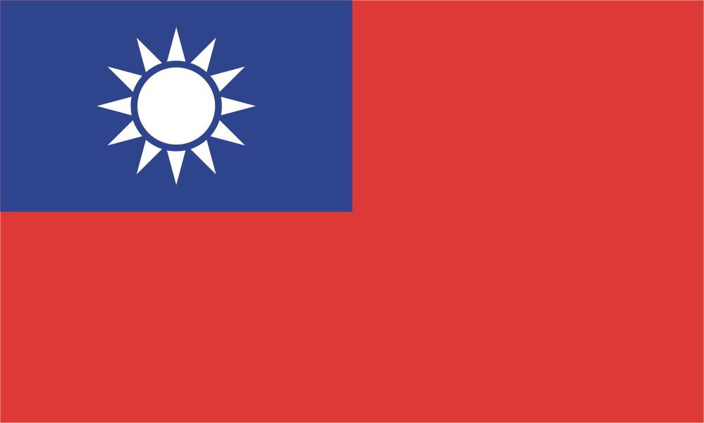 Design of the Taiwan 1500x900mm Flag