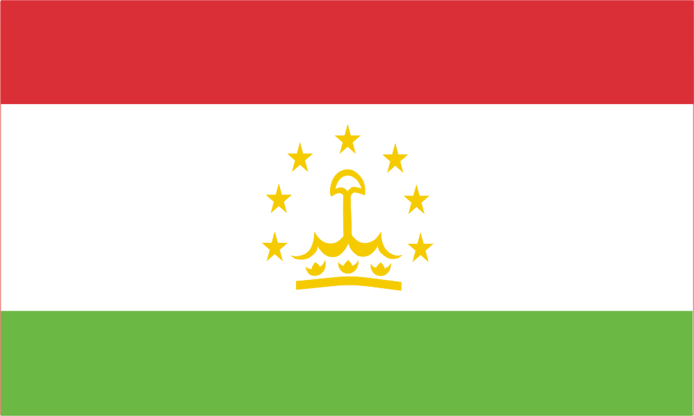 Design of the Tajikistan 1500x900mm Flag