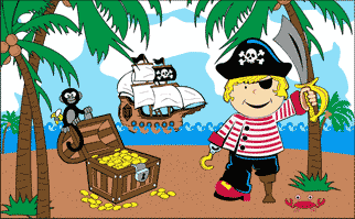 Flag image for Treasure Island Boy