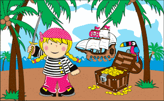 Flag image for Treasure Island Girl