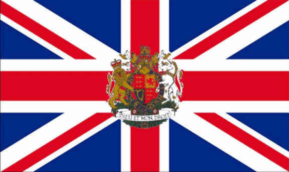 Design of the Union Jack With Royal Crest 1500x900mm Flag