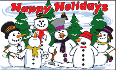 Flag image for Happy Holidays Snowmen