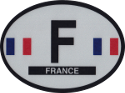 Design of the France 120x90mm Decal Oval Reflect